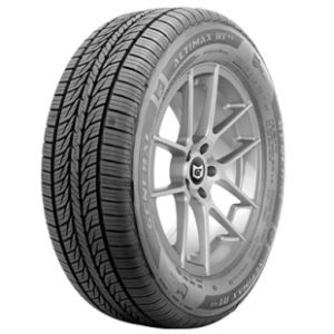The General AltiMAX RT43 Tire Mounted Onto a Wheel Showing Off Its Tread Design