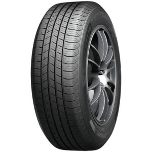 The Michelin Defender T+H tire mounted onto rim showing tires tread design
