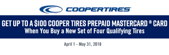 Save Up to $100 on all Cooper Tires