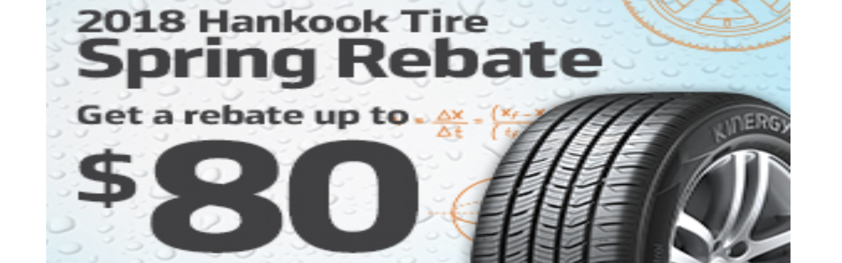 Hankook Tire Canada Spring 2018 Rebate