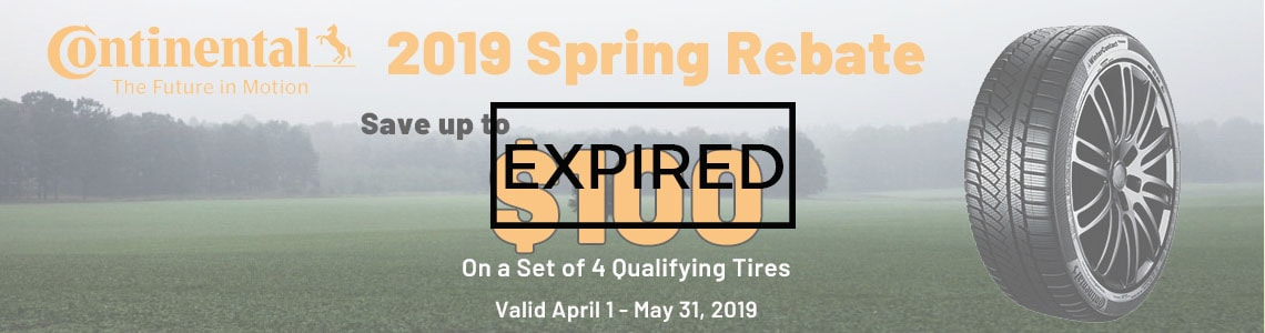 Continental Tires Spring 2019 Rebate Canada